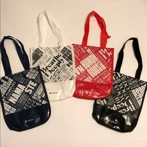 4 Brand New Special Edition Lululemon Tote Bags